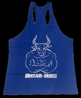 Gym Tank Top blau mit Aufdruck