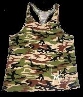 Gym Tank Top Camouflage mit Aufdruck