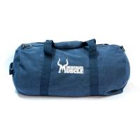 Vintage Canvas Barrel Bag blau