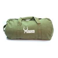 Vintage Canvas Barrel Bag militärgrün